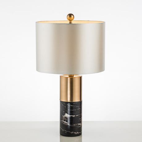 Đèn bàn trang trí phòng ngủ, phòng khách chân đá chao vải H52cm cao cấp TL-DN04