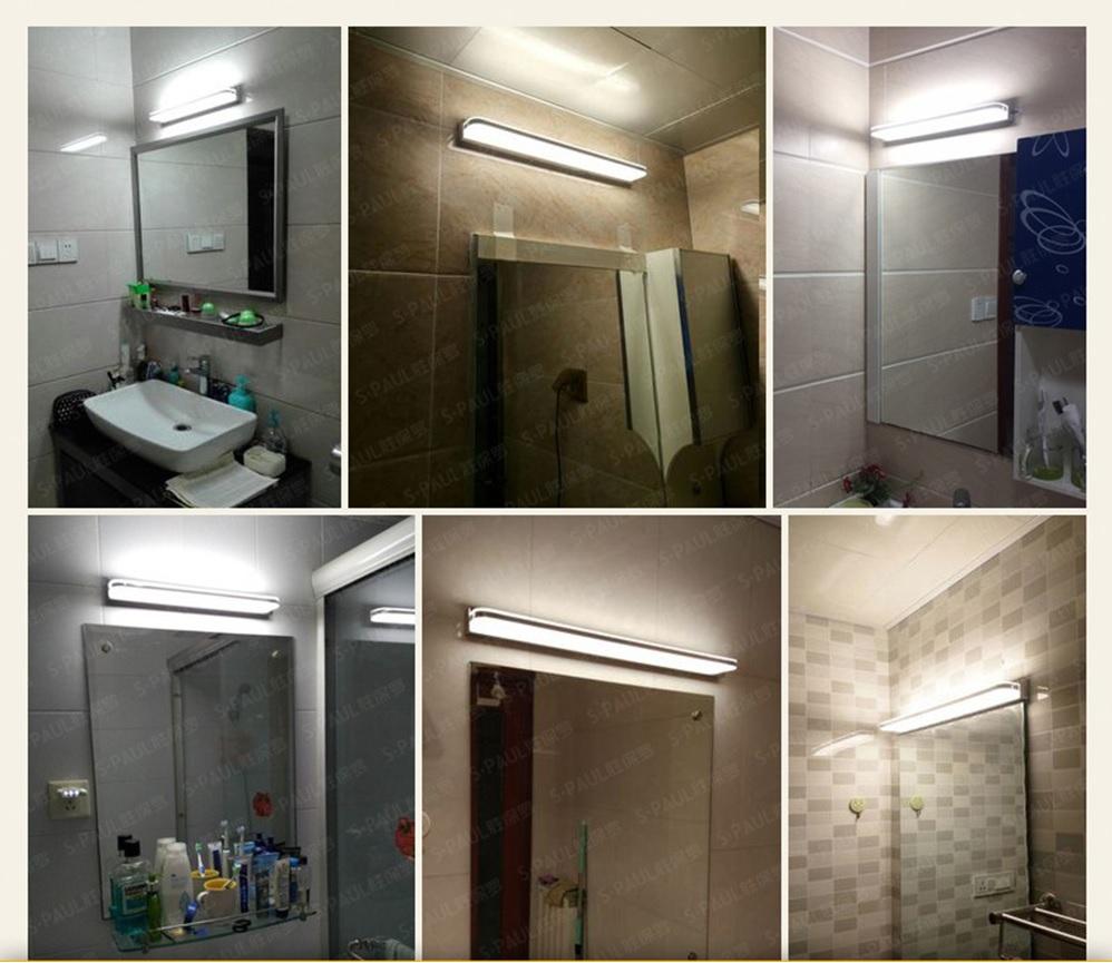 Đèn gương phòng tắm hiện đại cao cấp thực tế