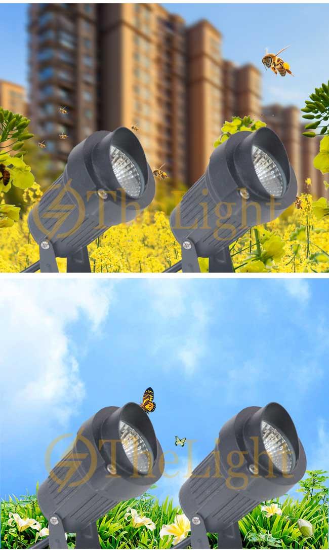 Đèn LED cắm đất chiếu rọi cây sân vườn ngoài trời chống nước IP65 DL-CC02-2