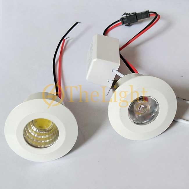 Đèn LED downlight COB mini âm trần tủ bếp, tủ rượu, tủ kệ trưng bày, tủ quần áo cao cấp D35mm TL-SPL01 white
