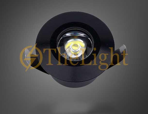 Đèn LED downlight COB mini âm trần tủ bếp, tủ rượu, tủ kệ trưng bày, tủ quần áo cao cấp D35mm TL-SPL01 vỏ đen