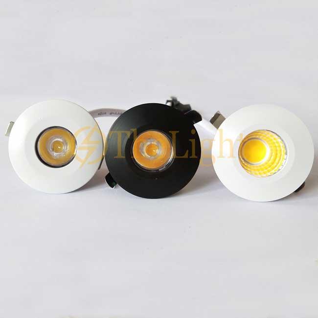 Đèn LED downlight COB mini âm trần tủ bếp, tủ rượu, tủ kệ trưng bày, tủ quần áo cao cấp D35mm TL-SPL01