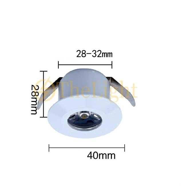 Đèn LED downlight COB mini âm trần tủ bếp, tủ rượu, tủ kệ trưng bày, tủ quần áo cao cấp D35mm TL-SPL01 vỏ trắng