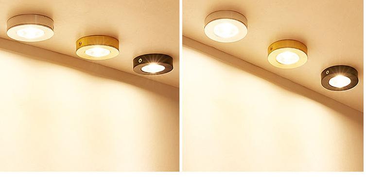 Đèn LED downlight COB mini gắn trần tủ bếp, tủ rượu, tủ kệ trưng bày, tủ quần áo cao cấp D75xH18mm TL-TUR01 light