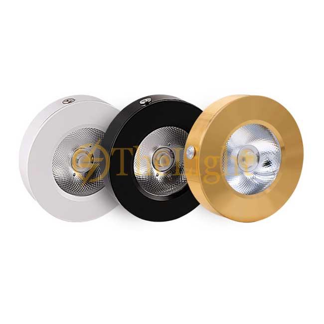 Đèn LED downlight COB mini gắn trần tủ bếp, tủ rượu, tủ kệ trưng bày, tủ quần áo cao cấp D75xH18mm TL-TUR01