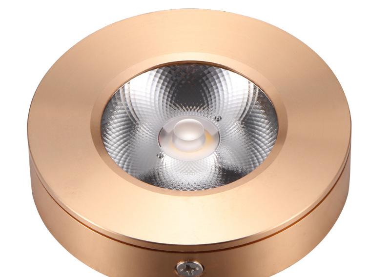 Đèn LED downlight COB mini gắn trần tủ bếp, tủ rượu, tủ kệ trưng bày, tủ quần áo cao cấp D75xH18mm TL-TUR01 vỏ vàng