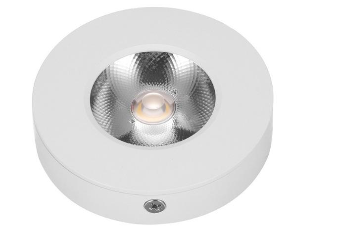 Đèn LED downlight COB mini gắn trần tủ bếp, tủ rượu, tủ kệ trưng bày, tủ quần áo cao cấp D75xH18mm TL-TUR01 vỏ trắng