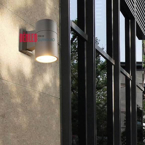 Đèn LED hắt tường 1 đầu hình trụ ngoài trời DHT-01TR