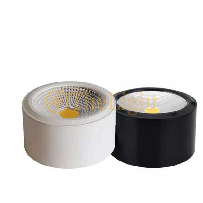 Đèn LED ống bơ COB vỏ đen 12w đường kính 115mm cao 65mm TL-MD01