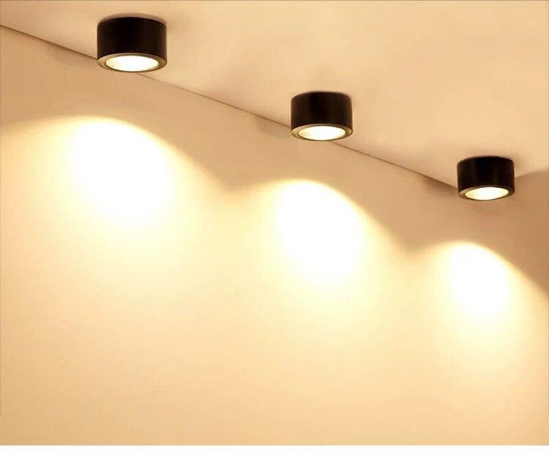 Đèn LED ống bơ COB vỏ đen 7w đường kính 90mm cao 50mm TL-MD01 light