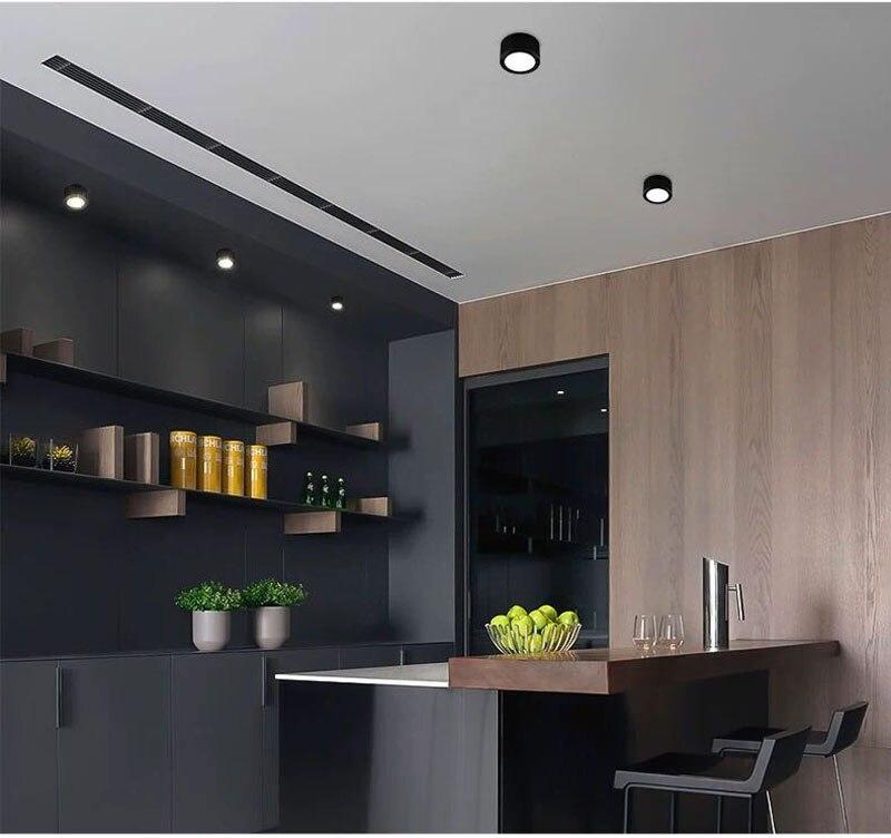 Đèn LED ống bơ COB vỏ đen 7w đường kính 90mm cao 50mm TL-MD01 lights