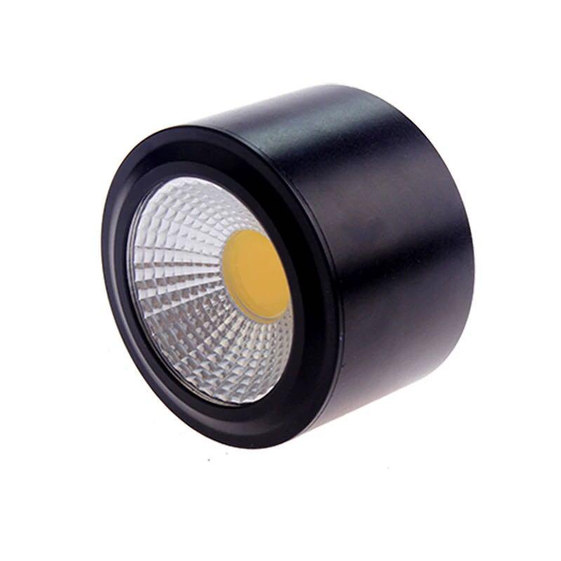 Đèn LED ống bơ COB vỏ đen 7w đường kính 90mm cao 50mm TL-MD01