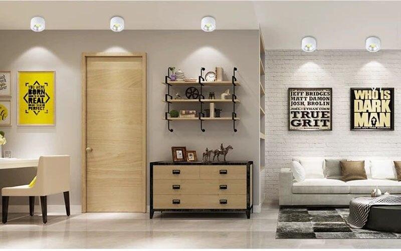 Đèn LED ống bơ COB vỏ trắng 7w đường kính 90mm cao 50mm TL-MD01 show