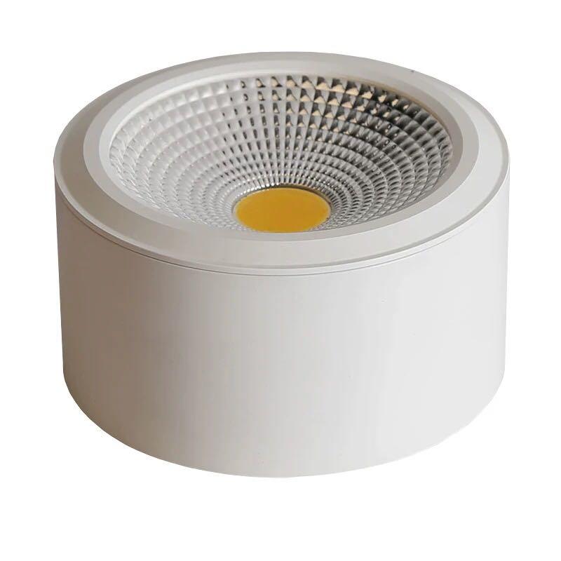 Đèn LED ống bơ COB vỏ trắng 7w đường kính 90mm cao 50mm TL-MD01