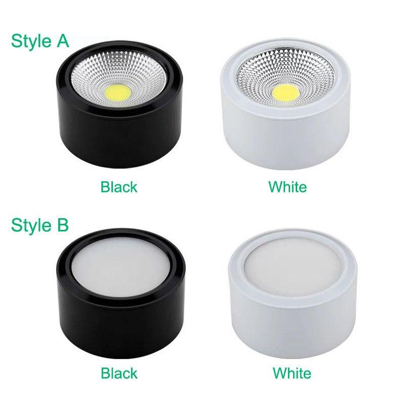 Đèn LED ống bơ COB vỏ trắng 7w đường kính 90mm cao 50mm TL-MD01 style