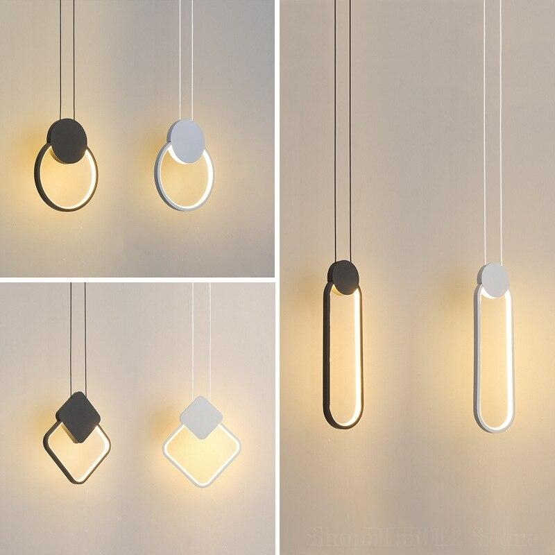 Đèn thả phòng ngủ LED 3 mầu trang trí đầu giường cao cấp DG-01F light