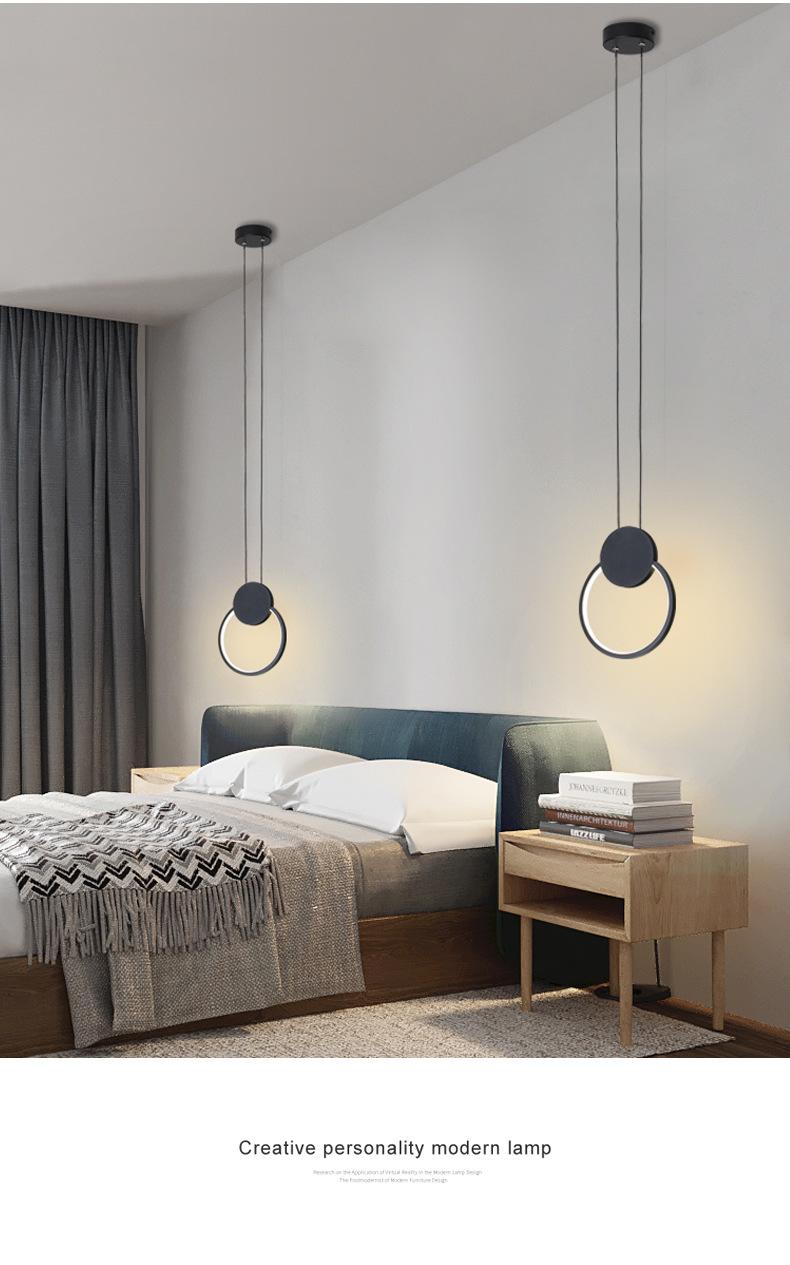 Đèn thả phòng ngủ LED 3 mầu trang trí đầu giường cao cấp DG-01F dáng A