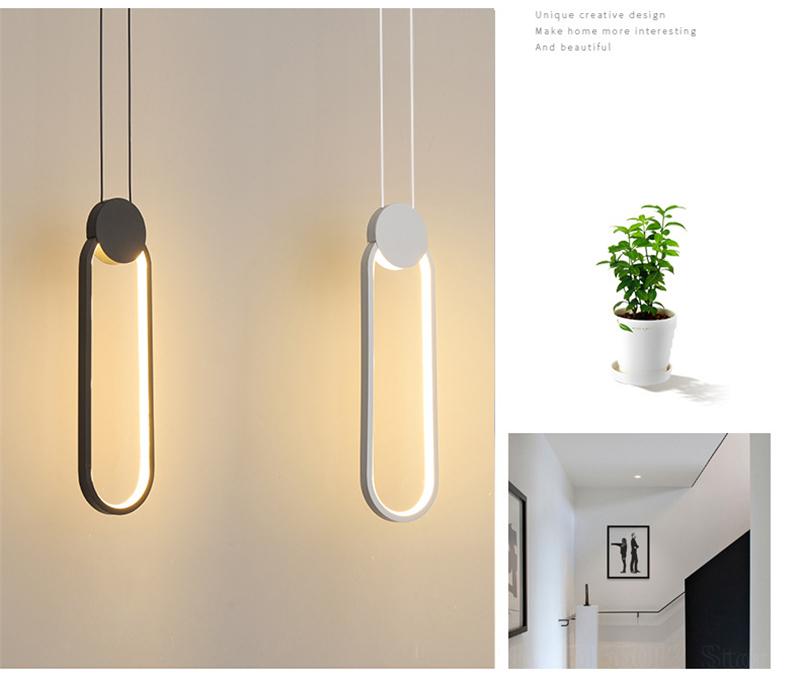 Đèn thả phòng ngủ LED 3 mầu trang trí đầu giường cao cấp DG-01F dáng B