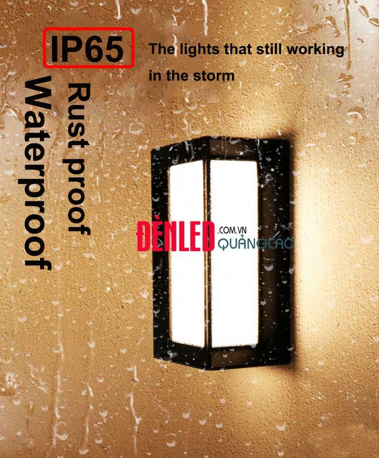 Đèn treo tường LED hiện đại 12w ngoài trời IP65