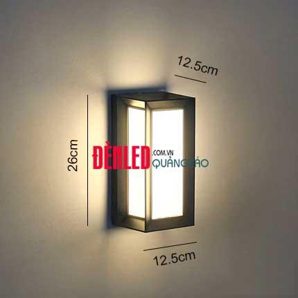 Đèn treo tường LED hiện đại 12w ngoài trời size